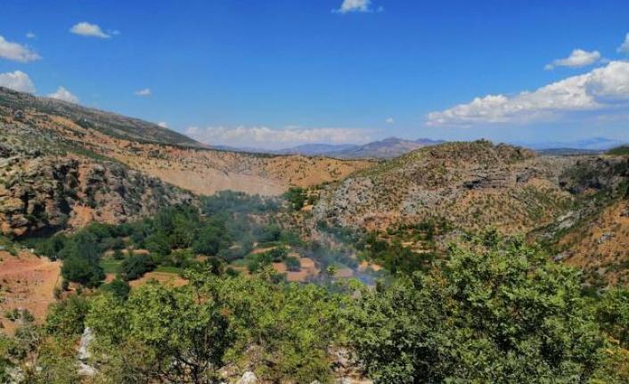Arıcak ilçesinde yaklaşık 20 dönüm alanda çıkan yangın söndürüldü.