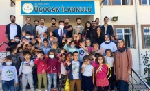 Arıcak Milli Eğitim Müdürü Fethi KILINÇ Üçocak ilkokul ziyareti