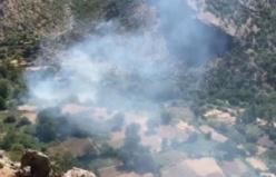 Arıcak ilçesine bağlı Bükardi beldesinde orman yangını çıktı.