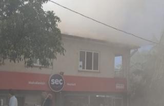 Arıcak'ta yangın çıktı !